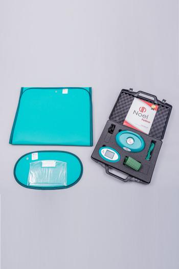 Pulsierende Magnetfeldtherapie mit Dualfrequenz. Gleicher technischer Standard wie bei Geräten für Klinik, Arzt und Heilpraktiker.